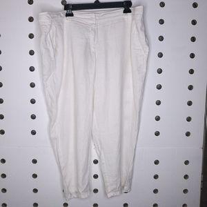 Eileen Fisher White Capri Pants Plus Size